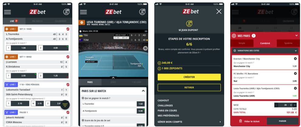 zebet be application mobile